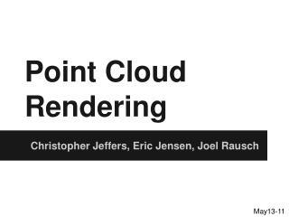 Point Cloud Rendering