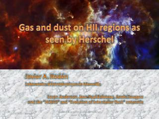 Gas and dust on HII regions as seen by Herschel