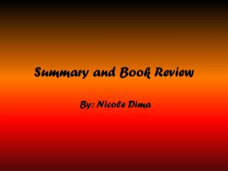 Summary and Book Review