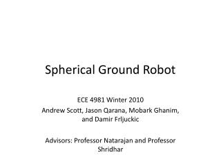 Spherical Ground Robot
