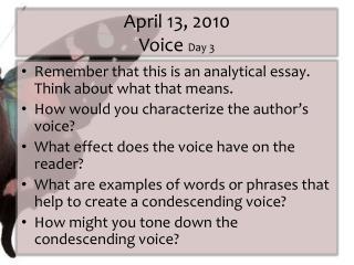 April 13, 2010 Voice  Day 3