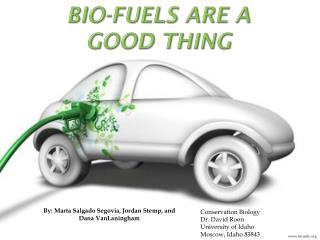 Bio-Fuels Are A Good Thing