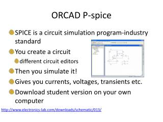 ORCAD P-spice