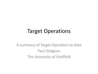 Target Operations