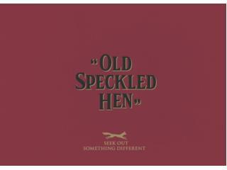 Old Speckled Hen Brand Book PPT 2014