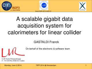 A scalable gigabit data acquisition system for calorimeters for linear collider