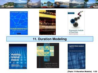 11.  Duration Modeling