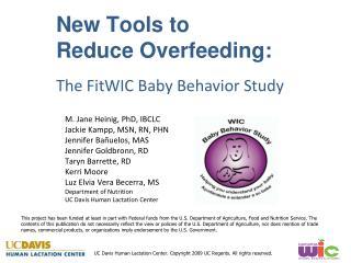 New Tools to                                  Reduce Overfeeding: