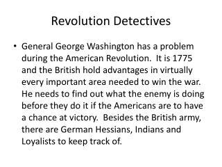 Revolution Detectives