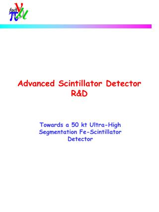 Advanced Scintillator Detector RD