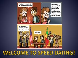 WELCOME TO SPEED DATING!