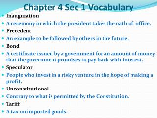 Chapter 4 Sec 1 Vocabulary