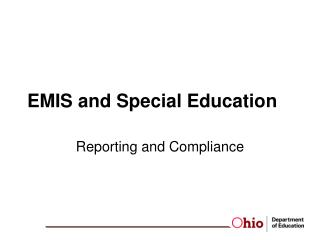 EMIS and Special Education