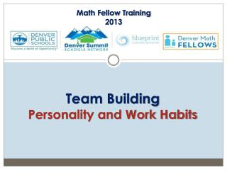 Team Building Personality and Work Habits