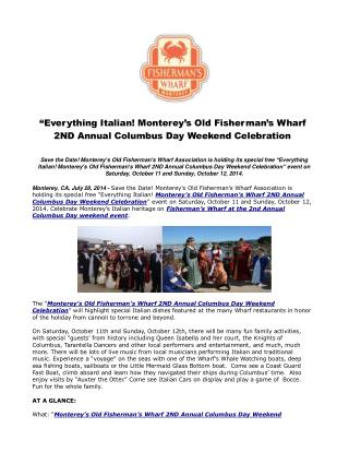 �Everything Italian! Monterey�s Old Fisherman�s Wharf 2ND An