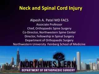 Neck and Spinal Cord Injury