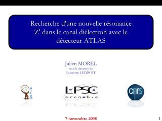Julien  MOREL sous la direction de  Fabienne LEDROIT