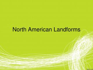 North American Landforms