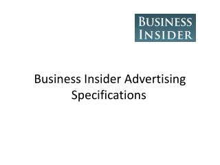 Business Insider Advertising Specifications