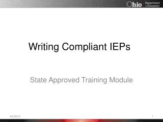 Writing Compliant IEPs