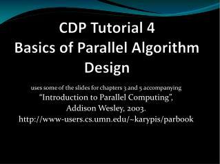 CDP Tutorial  4 Basics of Parallel Algorithm  Design