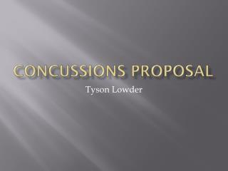 Concussions Proposal
