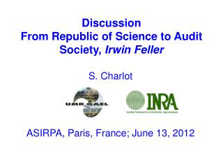 Discussion  From  Republic of Science to  Audit  Society,  Irwin  Feller