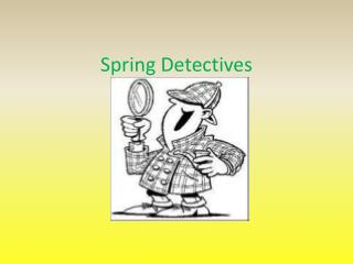 Spring Detectives