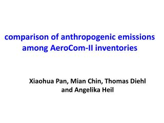 comparison of anthropogenic emissions among AeroCom-II inventories