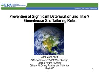 Prevention of Significant Deterioration and Title V Greenhouse Gas Tailoring Rule