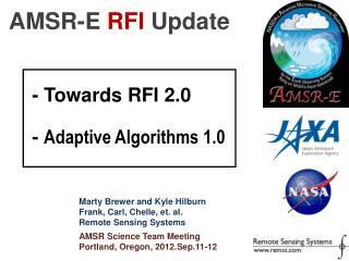 AMSR-E  RFI Update