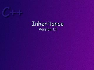 Inheritance Version  1.1