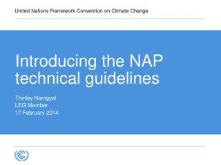 Introducing the NAP technical  guidelines