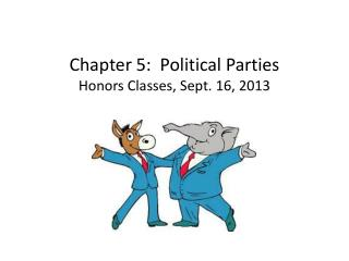 Chapter 5:  Political Parties Honors Classes, Sept. 16, 2013