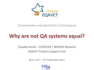 Why are not QA systems equal?