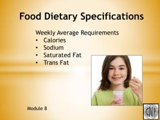 Food Dietary  Specifications