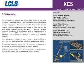 XCS Overview