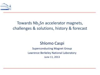 Towards Nb 3 Sn accelerator�magnets, challenges & solutions, history & forecast