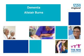 Dementia Alistair Burns