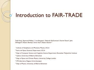 Introduction to FAIR-TRADE