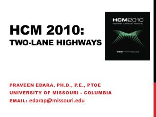 Hcm  2010: two-lane highways