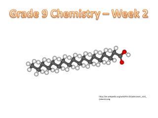 Grade 9 Chemistry – Week 2