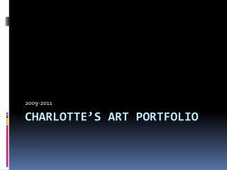 Charlotte's Art Portfolio