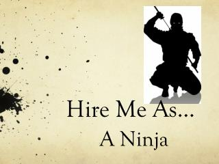 Hire Me As…