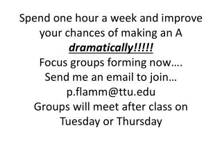 Focus group info