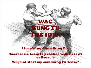 WAC  Kung Fu The Idea
