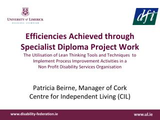 Patricia Beirne, Manager of Cork Centre for Independent Living (CIL)
