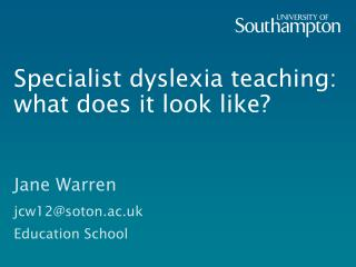 Specialist dyslexia teaching:  what does it look like?