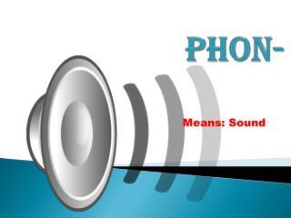 Phon-
