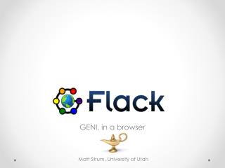 GENI, in a browser